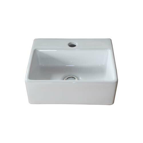 RoomClip商品情報 - 【セール】小さい洗面ボウル 陶器 小型 省スペース トイレ用 壁付け オーバーフロー無し W338×D294×H115 INK-0405026H