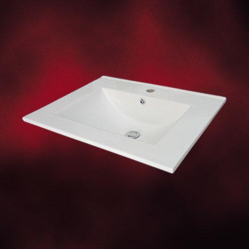 洗面ボウル(手洗い鉢・陶器洗面ボール・洗面台・埋め込み)INK-0402001H シンプルな白でどんな場所にも合う洗面ボウルです