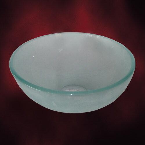 小さいガラス洗面ボール310mm スモーク(手洗い鉢、洗面ボウル、洗面台・トイレ用) INK-04060038H 幅広く利用できるガラス洗面ボウルです