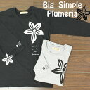 【送料無料】レディース フラダンス 【inkokomo Big シンプル プルメリア 7分袖 Tシャツ】 動きやすい 黒 白 ゆったり パウ に合う