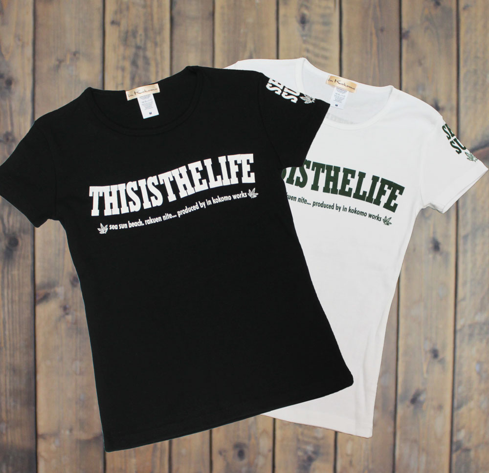 WAVEロゴ柄 シンプル レディースTシャツ 半袖 ハワイ