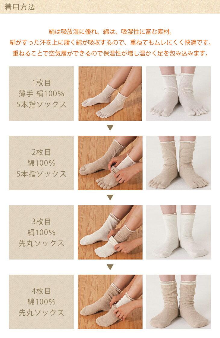 【送料無料】cocoonfit 絹と綿の冷え取...の紹介画像3
