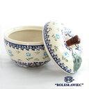 [Zaklady Ceramiczne Boleslawiec/ザクワディ ボレスワヴィエツ陶器]リンゴのポット12.5cm-892