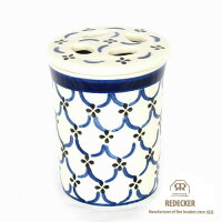 [REDECKER/レデッカー]陶器の歯ブラシスタンド/ライトパターン