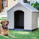 犬小屋【KETER 屋外 ドッグハウス 大型犬 中型犬 小型...