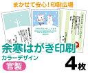 【余寒はがき印刷】【4枚】【官製はがき】【フルカラー】【ゆうパケット無料】