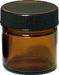 [生活の木]茶色ガラス・クリーム容器 25ml