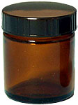 [生活の木]茶色ガラス・クリーム容器 50ml