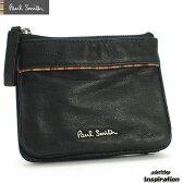 ポールスミス(Paul Smith)財布 二つ折り財布 パスケース入れ付き〈黒〉(psu424-10)ブラック メンズ 紳士