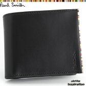 ポールスミス(Paul Smith)財布 二つ折り財布〈黒〉(psu055-10)ブラック メンズ