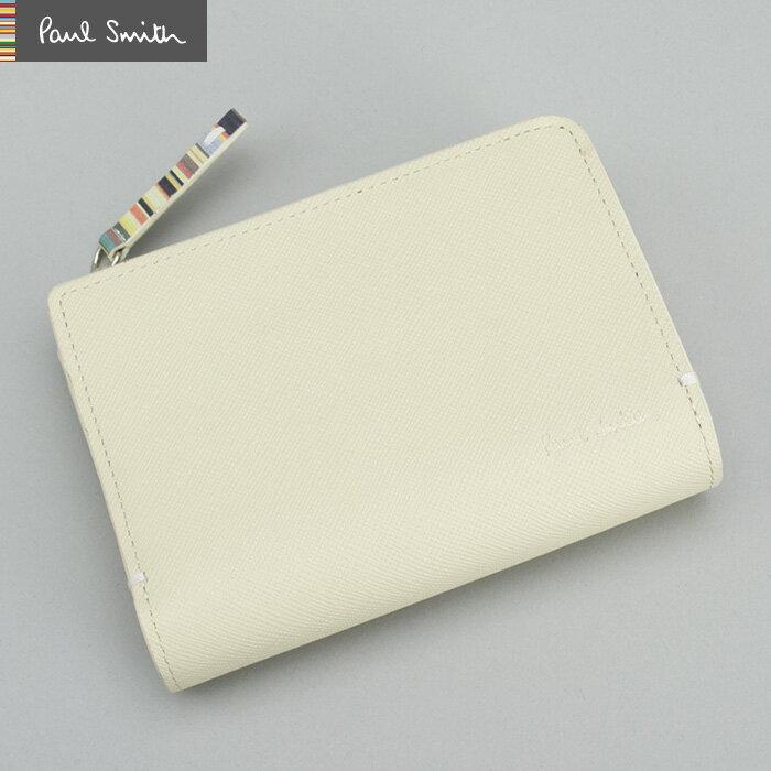 <クーポン配布中>ポールスミス 財布 二つ折り財布 Paul Smith アイボリー psk865-63 メンズ 紳士