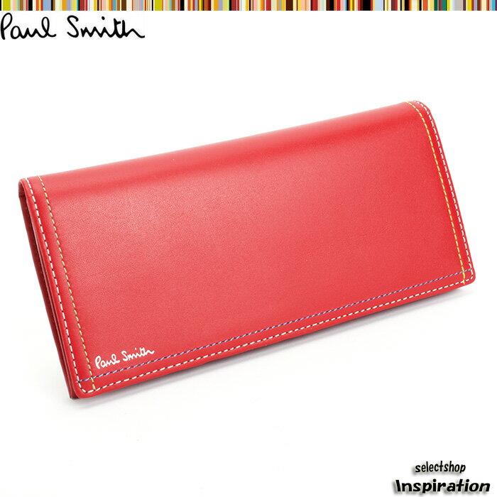 <クーポン配布中>ポールスミス Paul Smith 財布 長財布 赤 psk708-20 レッド メンズ 紳士