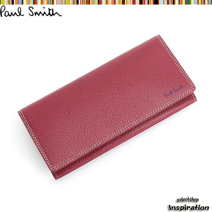 <クーポン配布中>ポールスミス 財布 長財布 赤 Paul Smith psp619-20 メンズ 紳士