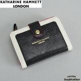 キャサリンハムネット KATHARINE HAMNETT LONDON 財布 二つ折り財布 黒 56403-10 ブラック レディース