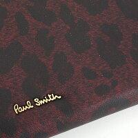 ポールスミスPaulSmith財布長財布ラウンドファスナーピンク(赤黒っぽいお色です。)pwu524-24レディース婦人