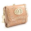 アナスイ 財布 三つ折り財布 がま口財布 ピンク系 ANNA SUI 307212-32 レディース 婦人 バタフライ