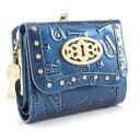 アナスイ 財布 三つ折り財布 がま口財布 ブルー系 ANNA SUI 307212-80 レディース