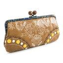 展示品箱なし アナスイ 財布 長財布 がま口財布 キャメル ANNASUI 311580-50 b レディース 婦人
