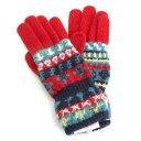 ヴィヴィアンウエストウッド 手袋 赤(レッド)×紺(ネイビー) Vivienne Westwood ACCESSORIES 233vw00701013 レディース 婦人