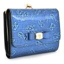 訳あり アナスイ 財布 二つ折り財布 がま口財布 紺(ネイビー) ANNA SUI 313992-85 b レディース 婦人