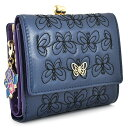 展示品箱なし アナスイ 財布 二つ折り財布 がま口財布 紺(ネイビー) ANNA SUI 314942-85 レディース 婦人