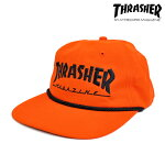 【THRASHER】ROPE SNAPBACK カラー:orange/black 【スラッシャー】【スケートボード】【キャップ】