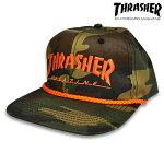 【THRASHER】ROPE SNAPBACK カラー:camo/orange 【スラッシャー】【スケートボード】【キャップ/帽子】