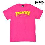 【THRASHER】SKATE MAG tee カラー:pink 【スラッシャー】【スケートボード】【ティーシャツ/半袖】