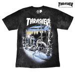【THRASHER】WOLVES tee カラー:black 【スラッシャー】【スケートボード】【ティーシャツ/半袖】