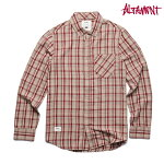 【Altamont】MILLY PETE L/S FLANNEL カラー:khaki 【オルタモント】【スケートボード】【シャツ/長袖】