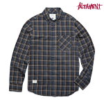 【Altamont】MILLY PETE L/S FLANNEL カラー:navy 【オルタモント】【スケートボード】【シャツ/長袖】