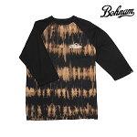 【BOHNAM】PERRY 3/4 SLEEVE RAGLAN カラー:black/gold 【ボーナム】【スケートボード】【ラグラン/七分】