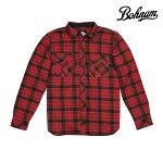 【BOHNAM】RANGLEY L/S PLAID SHIRT カラー:red 【ボーナム】【スケートボード】【シャツ/長袖】