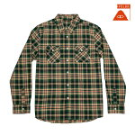 【POLER】BEEFALO LONGSLEEVE BUTTON UP カラー:green 【ポーラー】【スケートボード】【シャツ/長袖】
