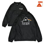 【POLER】COACH JACKET PSYCHEDELIC カラー:black 【ポーラー】【スケートボード】【ジャケット/コーチ】