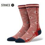 【STANCE】BACK ALLEY カラー:red 【スタンス】【スケートボード】【靴下/ソックス】