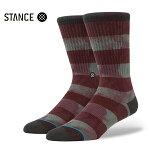 【STANCE】WELLS カラー:burgundy 【スタンス】【スケートボード】【靴下/ソックス】