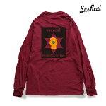 【SURREAL】GONZO -Print L/S Tee- カラー:burgundy 【シュルリアル】【スケートボード】【ティーシャツ/ロングリーブ】