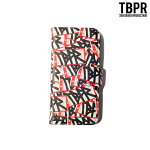 【TBPR/TIGHTBOOTH PRODUCTION】iPhone Note book Case カラー:fame red 【タイトブースプロダクション】【スケートボード】【アイフォンケース】