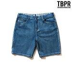 【TBPR/TIGHTBOOTH PRODUCTION】 DENIM SHORTS カラー:wash 【タイトブースプロダクション】【スケートボード】【パンツ/ショーツ】