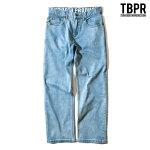 【TBPR/TIGHTBOOTH PRODUCTION】STRETCH DENIM PANTS カラー:ice wash 【タイトブースプロダクション】【スケートボード】【パンツ/デニム】