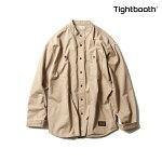 【TBPR/TIGHTBOOTH PRODUCTION】BAND COLLAR SHIRTカラー:beige 【タイトブースプロダクション】【スケートボード】【シャツ/長袖】