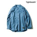 【TBPR/TIGHTBOOTH PRODUCTION】BAND COLLAR SHIRTカラー:stone blue 【タイトブースプロダクション】【スケートボード】【シャツ/長袖】