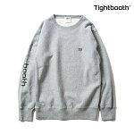【TBPR/TIGHTBOOTH PRODUCTION】SIDE LOGO CREW KNECK カラー:gray 【タイトブースプロダクション】【スケートボード】【スウェット/クルーネック】