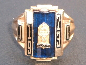 JOSTENS (justins) 1973, real vintage College ring 10 K (10 gold)