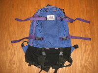 GREGORY(グレゴリー)紫タグ(旧タグ)1990年代Day&HalfPack(デイ&ハーフパック)Blue×Purple(ブルー×紫パイピング)【中古】