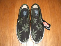VANS(�Х�)Slip-On(����åݥ�)MarijuanaLeaf(�ޥ�ե��ʥ꡼����)�ǥåɥ��ȥå�