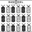 バンデル ナンバー ネックレス ブラックxホワイト リバーシブル BANDEL リニューアル モデル ギフト プレゼント ノベルティ 正規品 正規代理店
