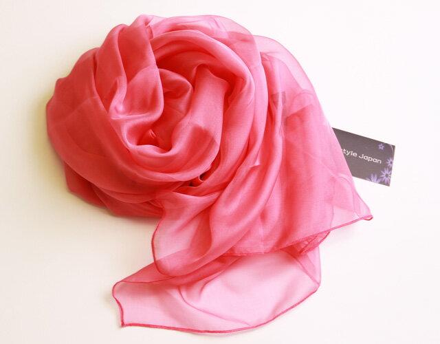 スカーフ シルク100% 大判 ストール マフラ...の商品画像