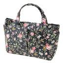 ショッピングバッグインバッグ 【バッグインバック】【小さめ】バッグインバッグ パンセアラローズ ハーブ&ローズ ネイビー